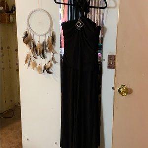 Dressy embellished halter jumpsuit